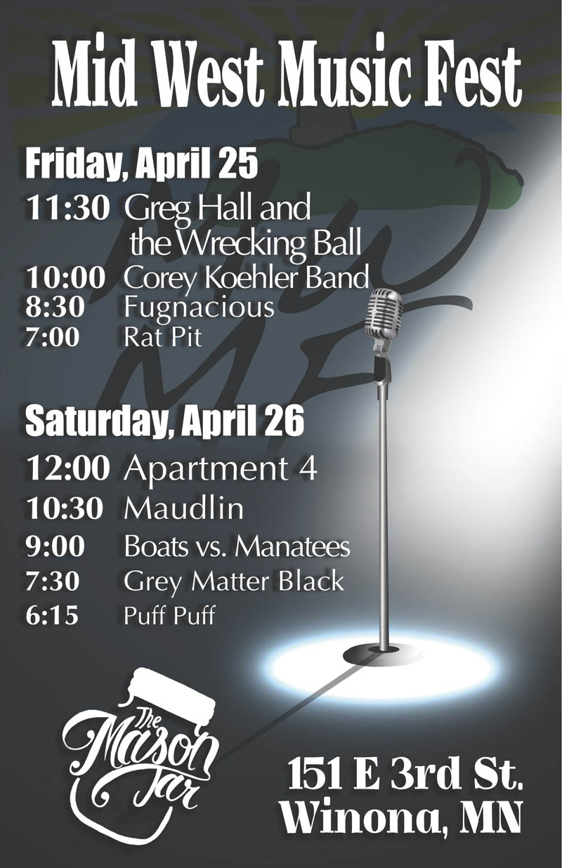 Mason Jar - 2014 Mid West Music Fest poster